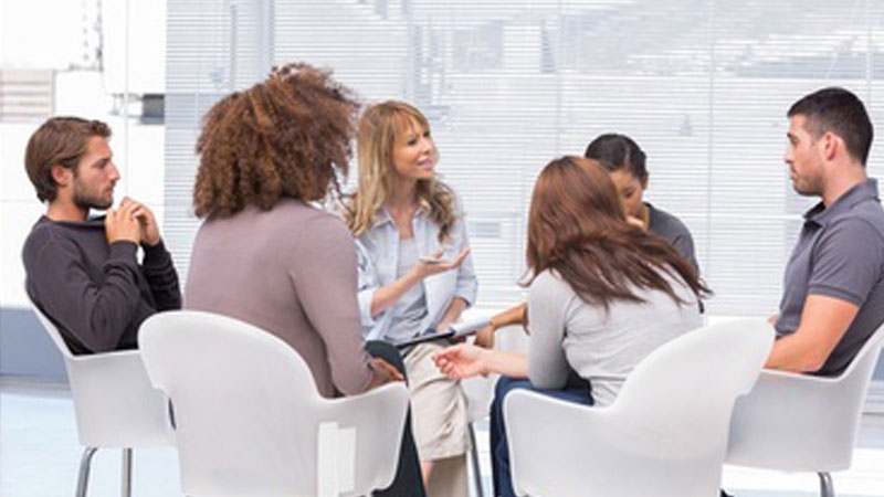 People taking part in a focus group