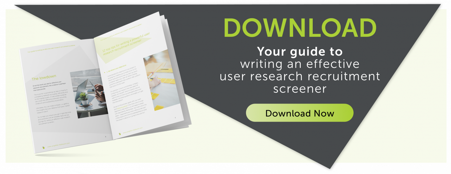 Your guide to writing an effective user research recruitment screener